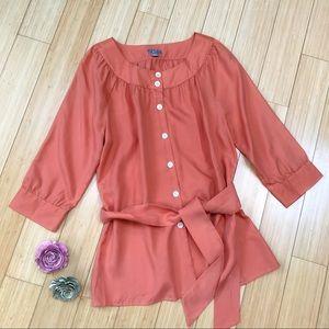 J. JILL silk orange blouse, S.